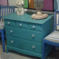 Painted with Annie Sloan Chalk Paint - love this paint