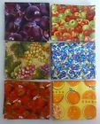 Fruit Fat Quarter Bundle of 6~Group #3~Cotton Fabric for Sewing and Quilting