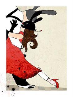 Kristina Sabaite: Tango - Illustration Friday