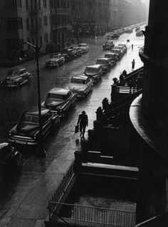 Ruth Orkin - Man in Rain, New York City 1952. °