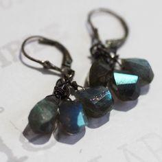 Flashy little earrings! #jewelry #earrings #handmade