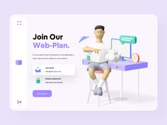 Colorful Minimal 3D Web Design by Ali Sayed for UnoPie Design on Dribbble Best Ui Design, Web Design, Header Design, Get Started, Minimalism, Family Guy, Colorful, 3d, How To Plan