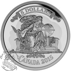 Coin Gallery London Store - Canada: 2015 $5 Bank Note Series - Canadian Banknote Vignette Silver Coin, $69.95