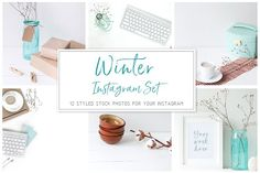 Winter Instagram Set by White Nova Studio on @creativemarket