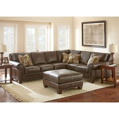 Gavin Top Grain Leather Sectional and Ottoman Top Grain LeatherSectionalOttoman by Adalyn Home®  sc 1 st  Pinterest : nouveau top grain leather sectional - Sectionals, Sofas & Couches