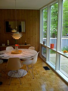 Midcentury Modern window scene
