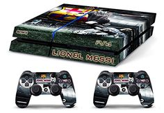 Skin PS4 HD LIONEL MESSI FC BARCELLONA limited edition Playstation 4 COVER DECAL