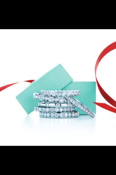 Tiffany stackable diamond bands.