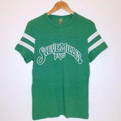 STEVE MILLER BAND Green Band T-Shirt Vintage Classic Rock Concert Tee Size Small #SteveMillerBand #ShortSleeve