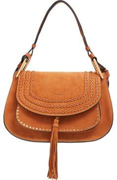 Chloé 'Hudson' Studded Suede Shoulder Bag available at #Nordstrom