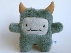 Cute plush monster Bitt the engineering by curiouslittlebird