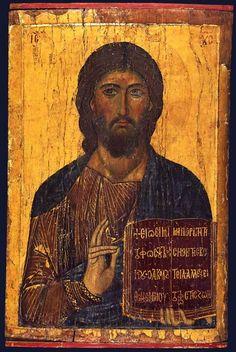 Christ Pantocrator icon, St Catherine's Monastery, Sinai.: