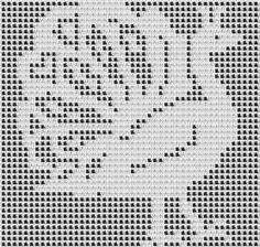 Peacocks Design for Filet Crochet or Cross Stitch