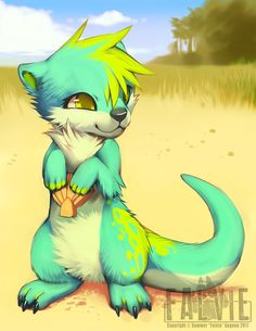 In the Sand by falvie.deviantart.com on @deviantART soo cute, little furry