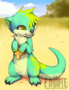 In the Sand by falvie.deviantart.com on @deviantART soo cute, little furry