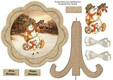 Snowman Scalloped Plate on Craftsuprint - View Now!