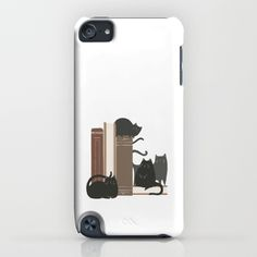 CATS + BOOKS iPhone & iPod Case