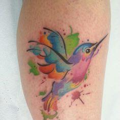 My first Hummingbird Watercolor Tattoo