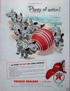 Texaco Dalmatian Puppy Puppies Beach Ball Sand (1955)