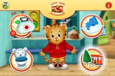 Daniel Tiger's Neighborhood: Play at Home with Daniel Tiger (Cloud Kids with PBS and The Fred Rogers Company) app review by Katie Bircher at The Horn Book, October 4th, 2012
