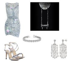 """""""Chandelier"""" by mrscerulli ❤ liked on Polyvore featuring SOPHIE MILLER and Allurez"""