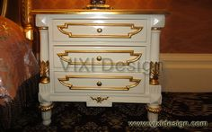 White Nightstand French Style Furniture