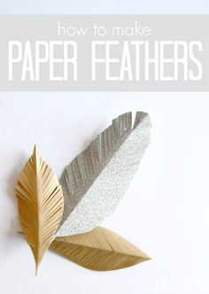 DIY Paper Feathers via http://snapcreativity.com #giftwrap #papercraft #feathers