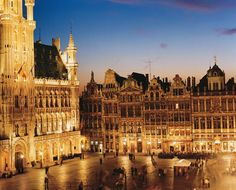 The Grand Place, or Market Square, is Brussels' spectacular historic center.