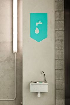 Water Fountain Signage | Creative Wayfinding and Environmental Graphics