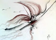 Dragon Sail is a Charcoal, pencil and conte drawing. Available for sale. Contact Jacabo Studio, Inc.