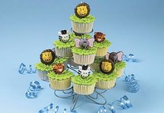 amazing cup cakes | Special Day Cakes: Jungle Animal Cupcakes Designs