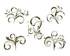 The Clip Art Guide Blog: 3 Swirls and Elements Collections