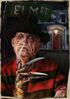 Freddy Krueger - A Nightmare on Elm Street - Torren Thomas Horror Movie Characters, Slasher Movies, Best Horror Movies, Classic Horror Movies, Horror Show, Scary Movies, Freddy Krueger, Arte Horror, Horror Art