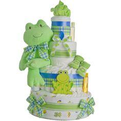 Lil' Froggie 4 Tier Diaper Cake