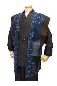 An outfit for the men to wear in Rhodi-An. Samurai Clothing, Mens Garb, Steampunk Gun, Landsknecht, Sleeveless Jacket, Range Of Motion, Sun Moon, Japanese Kimono, Historical Clothing