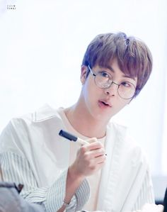 Jin in glasses. Yes. Just yes.