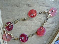 Disc Bead Bracelet - Cheap, Easy, and recycled shrinky plastic! style