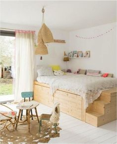 6 decor ideas for small rooms. Having a small kids bedroom doesn't have to mean compromise. Here are 6 ideas to make the most of any small space (image via vtvonen) Small Bedroom Furniture, Space Saving Furniture, Bedroom Decor, Bedroom Small, Dispositions Chambre, Kids Bedroom Boys, Kids Rooms, Small Childrens Bedroom Ideas, Luxury Chairs