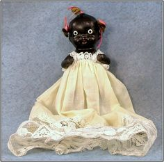 Japan All Bisque Black Americana Baby Doll - Purchase on Ruby Lane $150.00