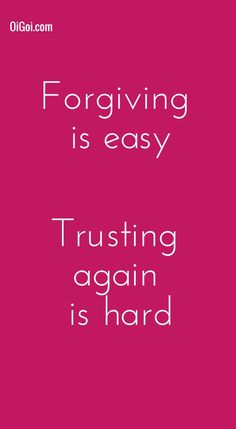 Forgiving is easy, Trusting again is hard #BrokenHeart www.OiGoi.com Inspirational Quotes About Love, Love Quotes, Trusting Again, Worship God, Our Love, Self Help, Forgiveness, Feelings
