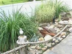 Garden Types - faux-coastal garden in Maine The Effective Pictures We Offer You About garden aesthetic A quality - Beach Theme Garden, Backyard Beach, Seaside Garden, Coastal Gardens, Beach Gardens, Beach Landscape, House Landscape, Landscape Designs, Landscape Lighting