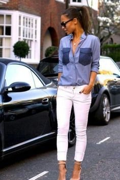 Love the white jeans, just wish I was brave enough to wear them