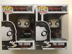 FUNKO POP! MOVIES THE CROW HOT TOPIC 25th EXCLUSIVE GITD FIGURE #133 & Original #FUNKO #TheCrow #Exclusive