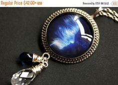 SUMMER SALE Virgo Necklace. Cobalt Blue Zodiac Astrology Necklace. Sun Sign Constellation Necklace. Wire Wrapped Crystal Necklace. Charm Nec by TheTeardropShop from The Teardrop Shop. Find it now at http://ift.tt/28Io6J6!