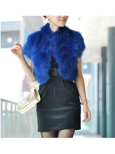 Plush Fox Fur Temperament Short Coat
