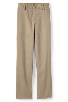 School Uniform Iron Knee Blend Plain Front Chino