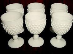 Vintage Milkglass White Fenton Hobnail Milk Glass by EraCaches, $49.00