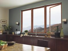 Windows Marvin Windows Casement Windows For Kitchen Casement Modern Style of Casement Windows Explained. And Screens. Double Hung Windows, Big Windows, House Windows, Windows And Doors, Kitchen Windows, Sunroom Windows, Crank Windows, Timber Windows, Modern Windows