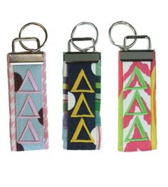 KAO Ribbon embroidered keychain for my chapter room keys | just how ...