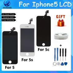 100% Marque Nouveau Pas de Dead Pixel Écran Pour iPhone 5 5s 5c Écran lcd Écran Tactile Digitizer Assemblée Remplacement Noir et Blanc
